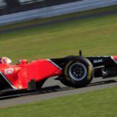 El Marussia MR01 en pista