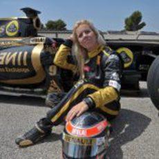 María de Villota con Lotus Renault GP