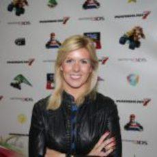 María de Villota en la presentación de 'Mario Kart 7'