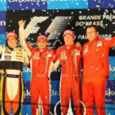 El podio del GP de Brasil 2008