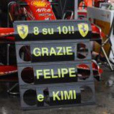 La pizarra de Ferrari