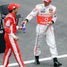 Massa y Hamilton