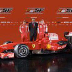 F60: Felipe Massa, Stefano Domenicali, y Kimi Raikkonen