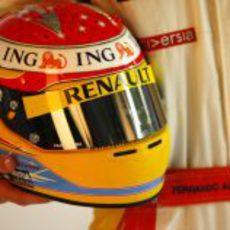 El nuevo casco de Fernando Alonso