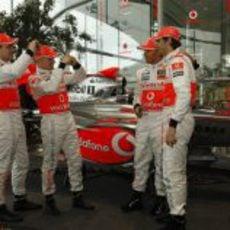 Los 4 pilotos de McLaren Mercedes