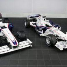 El BMW Sauber F1.09 y el BMW Sauber F1.08