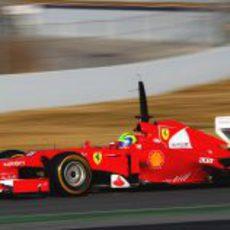 Felipe Massa en los segundos test de Montmeló