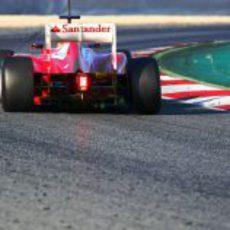 La trasera del Ferrari F2012