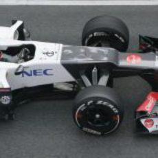 Kamui Kobayashi a los mandos del Sauber C31 en Barcelona