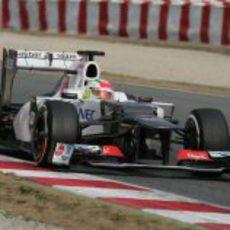 Sergio Pérez a los mandos del Sauber C31