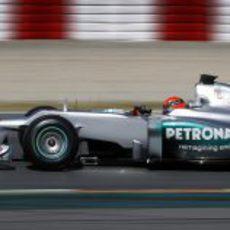 Schumacher a toda velocidad con su monoplaza