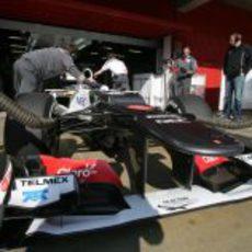 Sergio Pérez regresa al box de Sauber