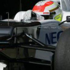 Sergio Pérez pilotando el Sauber C31 en Montmeló