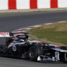 Bruno Senna rueda en Montmeló con su monoplaza