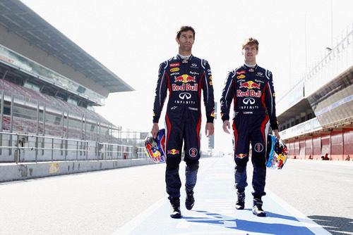 Mark Webber y Sebastian Vettel ante la temporada 2012