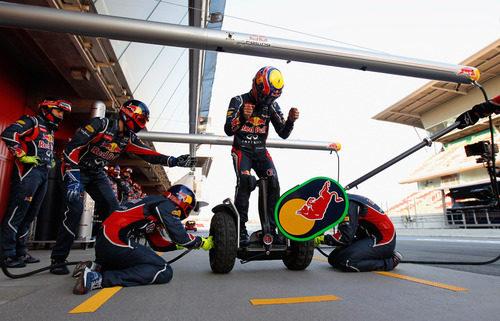 Especial parada en boxes para Mark Webber