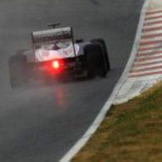 El coche de Bruno Senna visto desde atrás