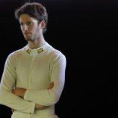 Romain Grosjean con el traje ignífugo