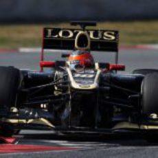 Romain Grosjean a los mandos del E20