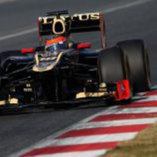 Romain Grosjean a bordo del Lotus E20