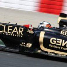 Vista lateral del Lotus E20