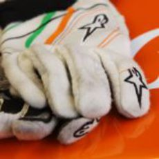 Los guantes de Nico Hülkenberg