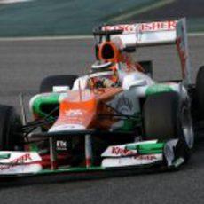 Vista frontal del Force India VJM05