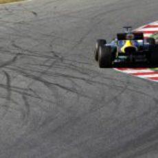 Heikki Kovalainen a toda velocidad a los mandos de su CT01