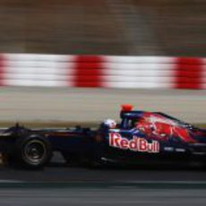 Daniel Ricciardo en Barcelona con el ST7
