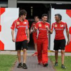 Fernando Alonso llega a Albert Park