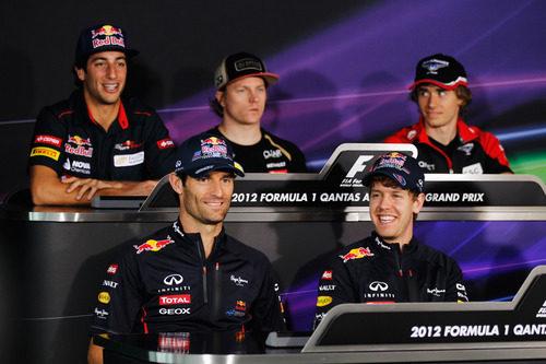 Rueda de prensa de la FIA en jueves en el GP de Australia 2012