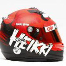 Nuevo casco de Heikki Kovalainen para 2012 (lateral)