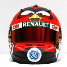Nuevo casco de Heikki Kovalainen para 2012 (frontal)
