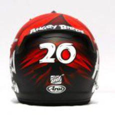 Nuevo casco de Heikki Kovalainen para 2012 (trasera)