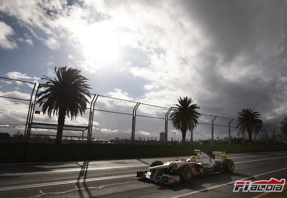 Nico Rosberg durante los primeros libres en Albert Park