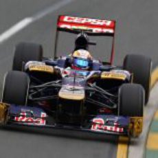 Jean Eric-Vergne en su STR7 en Albert Park
