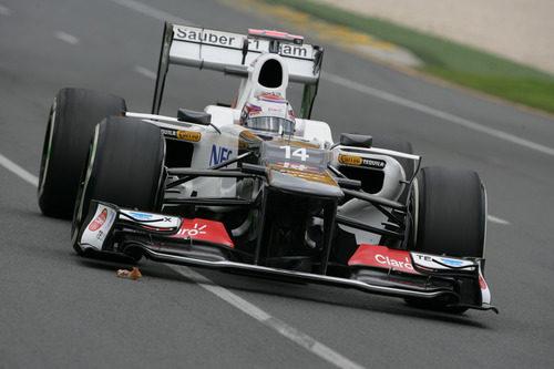 Kamui Kobayashi a bordo de su C31 en los primeros libres del GP de Australia 2012