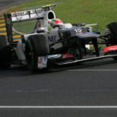 Sergio Perez a bordo de su C31