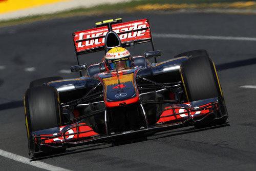 Lewis Hamilton en la clasificación del GP de Australia 2012
