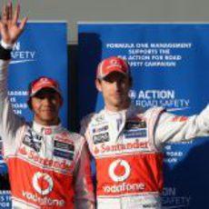 McLaren copa la primera línea de salida en el GP de Australia 2012
