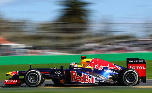 Sebastian Vettel en la clasificación del GP de Australia 2012