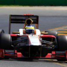 Pedro de la Rosa rueda en clasificación con el HRT de 2012