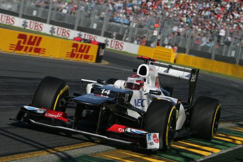 Kamui Kobayashi con el Sauber en la clasificación de Australia