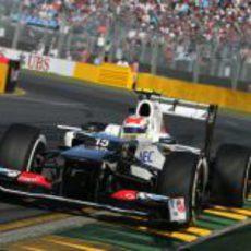 Sergio Pérez a los mandos del Sauber