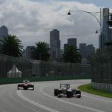 Sergio Pérez en vuelta lanzada en la clasificación