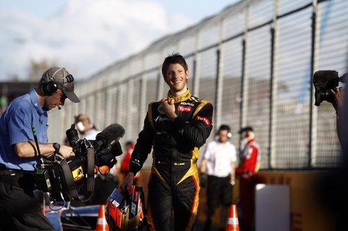 Romain Grosjean, muy contento con su tercer puesto en clasificación