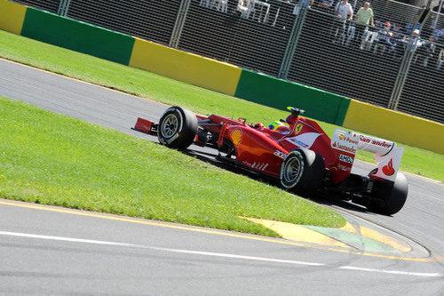 Felipe Massa sobre el trazado australiano de Albert Park