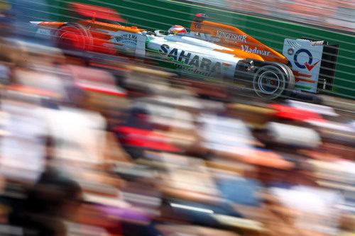 Paul di Resta a los mandos del VJM05 por el circuito de Albert Park