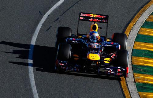 Sebastian Vettel rueda durante los libres 3 del Gran Premio de Australia