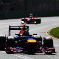 Sebastian Vettel rueda en Albert Park durante la sesión de clasificación